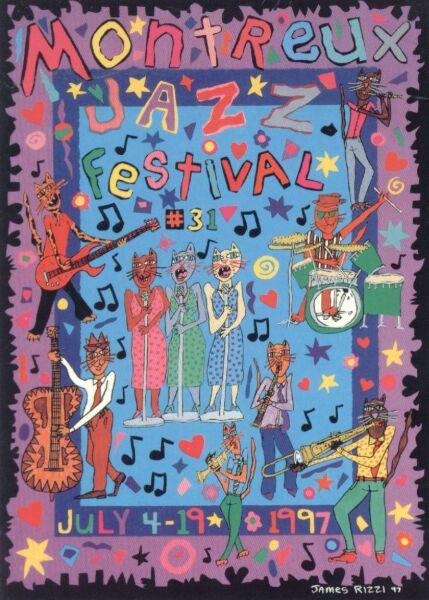 Montreux Jazz Festival Postcard